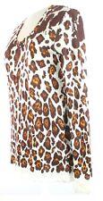 Stella McCartney Womens Brown Leopard Print Top T Shirt UK 8, IT 38