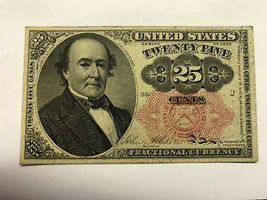 1874 Fractional Currency 25 Cents Unc++ #14373