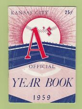 1959 Kansas City A's Year Book Roger Maris