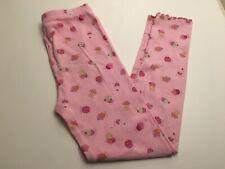Gymboree Girls Pink Cupcake Print 100% Cotton Pajama Pants Size 7