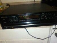 Vintage Onkyo Integra DX-C606 6 Disc CD Carousel Changer W/ Remote HiFi Stereo