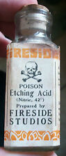 NEAT OLD EARLY CORKTOP LABELED POISON SKULL & CROSSBONES ETCHING NITRIC ACID