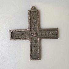 Sammlungsauflösung religiöse Volkskunst hochwertiges Kreuz Wandkreuz Bronze (12)