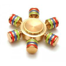 3 Brass Copper Finger Spinner 3 Fidget Golden Humming Top Anti Stress Toy Pocket