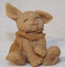 Sarah's Attic Mini Rabbit Figurine Wearing a Scarf New