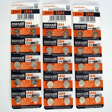 30 NEW LR44 MAXELL A76 L1154 AG13 357 SR44 303 BATTERY