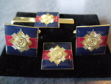 Scots Guards on TRF Cufflink, lapel pin+tieslide set, Household Div, SG, thistle