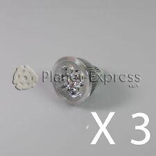3 x Bombilla 4W LED MR16 GU5.3 Blanco Calido 12V 350 lumen Bajo Consumo equi.40W