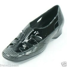 Renzo Fontanelli Women Ponte Pump Black Snakeskin Leather Size 6.5 B NEW