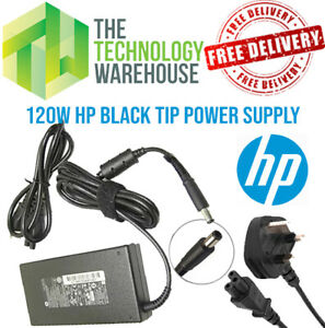 Genuine HP 120w Charger PSU - 19.5V 6.15A - 7.4mm*5mm Tip + Optional Power Cable