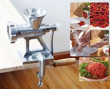 Meat Grinder Mincer Machine Maker + Sausage Filler Attachment Mincers Hand Tool