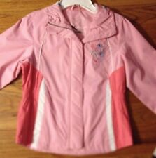 girl's NWT Zero Xposur Lined Rain Jacket Spring Coat Pink M 5/6 - Great for CAMP