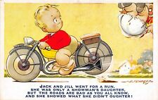 POSTCARD  COMIC   BAMFORTH  MOTOR CYCLE  Related   Jack  and  Jill   D TEMPEST