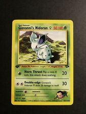 💥Pokemon Card💥 Giovanni's Nidoran 1st Edition👾- 75/132 Gym Challange ENG -NM✅