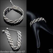 Schmuck Armband Schwarz #068 Original Geschenk/ verziert mit Swarovski® Kristall