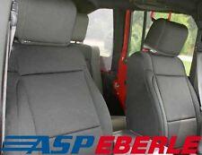 Sitzbezug vorne schwarz Sitzbezüge Paar Sitze Jeep Wrangler JK 07-10