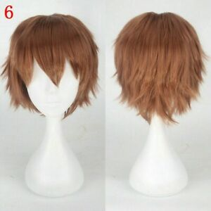 20 Colors Short Hair Full Wigs Cap Hairpieces Cosplay Club Anime Head Accessory