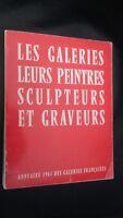 Annuario 1961 Delle Gallerie Francesi Loro Quadri-Pittori-Incisori M.FOURNY