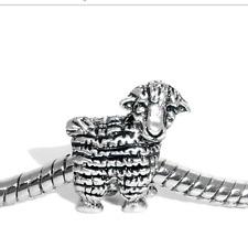 sheep lamb easter charm charms bead bracelet bangle gift silver pd European uk