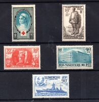 France 1938-1939 mint LHM collection x 5V WS20990