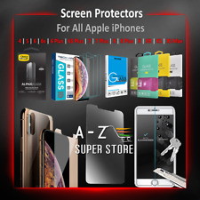 iPhone Screen Protector Tempered Glass Pack lot For Apple 4 5 6 7 8 X XR XS Max