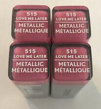 (4) Covergirl Exhibitionist Metallic Lipstick, 515 Love Me Later