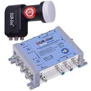 DUR-line MS 56 Blue eco Multischalter  1 SAT 6 Teilnehmer mit Quattro LNB