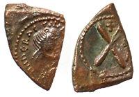 Byzantine Heraclius AE Decanummium Constantinople mint