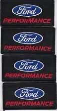 FORD PERFORMANCE (4) SEW/IRON ON PATCH EMBROIDERED SHELBY COBRA MUSTANG