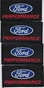 4 FORD PERFORMANCE SEW/IRON ON PATCH EMBROIDERED SHELBY COBRA MUSTANG