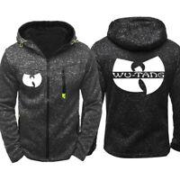 Hot WU-TANG Hoodie Warm Jacket Sport Sweatshirt Full-Zip Coat DJ Spring coat
