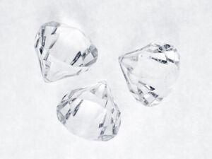 Deko-Diamanten 3,9 x 4,2 cm 5 Stück klar - Hochzeit - Weihnachten