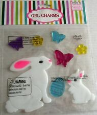 EASTER Window Gels  BUNNY RABBIT'S with BUTTERFLIES AND FLOWERS