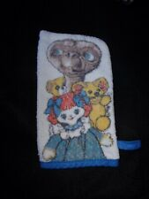Vintage 80'S E.T. The Extra Terrestrial Wash Cloth Hand Puppet Teddy Bears Doll