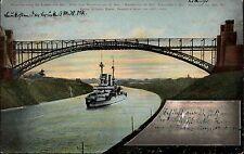 Schiffe & Seefahrt ~1906 Brücke Levensau mit Schlachtschiff Kaiserliche Marine
