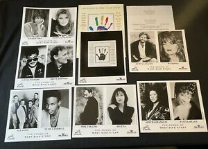 PHIL COLLINS/SELENA 'SONGS OF WEST SIDE STORY' 1995 PRESS KIT—7 PHOTOS—ARETHA