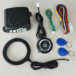 Keyless Entry Car Push Button RFID Lock Engine Starter Ignition Anti-theft Alarm