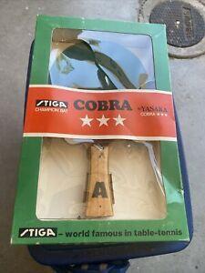 Vintage STIGA Cobra YASAKA Table Tennis Ping Pong Paddle With Box
