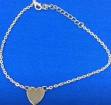 Tiny Elegant Small Gold Love Heart Cute Short Bracelet Present Gift New
