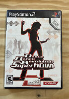 💃🏻 Dance Dance Revolution Supernova PS2 With Manual - Sony PlayStation 2