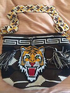 Handmade Wayuu Tiger Bag