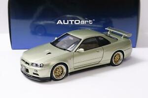 1:18 AUTOart Nissan Skyline GT-R (R34) V-SPEC II NUR BBS LM Wheel Millenium Jade