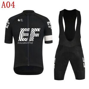 2021 Mens Team Cycling Jersey Bib Shorts Set MTB Bike Uniform Bicycle Outfits