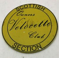 RARE VINTAGE VELOCETTE OWNERS CLUB SCOTTISH SECTION METAL PLAQUE VGC