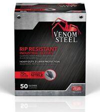Venom VEN6045N Steel Industrial Nitrile Gloves, Large - 50 Count