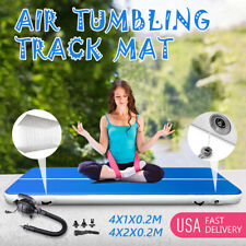 13Ft Airtrack Inflatable Air Track Floor Home Gymnastics Tumbling Mat Gym +Pump