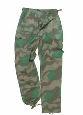 GERMAN SPLINTER CAMOUFLAGE PANTS MILITARY BDU CARGO 6 POCKET FATIGUE TROUSERS