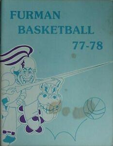 1978 SOUTH CAROLINA at FURMAN BASKETBALL PROGRAM