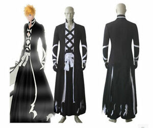 Bleach Ichigo Kurosaki New Bankai cosplay costume outfit Halloween