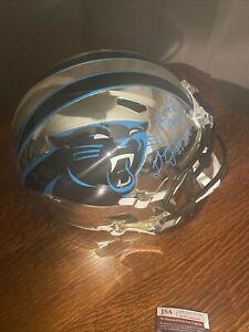 Thomas Davis Sr Autographed Full Size Authentic Helmet Chrome Panthers JSA